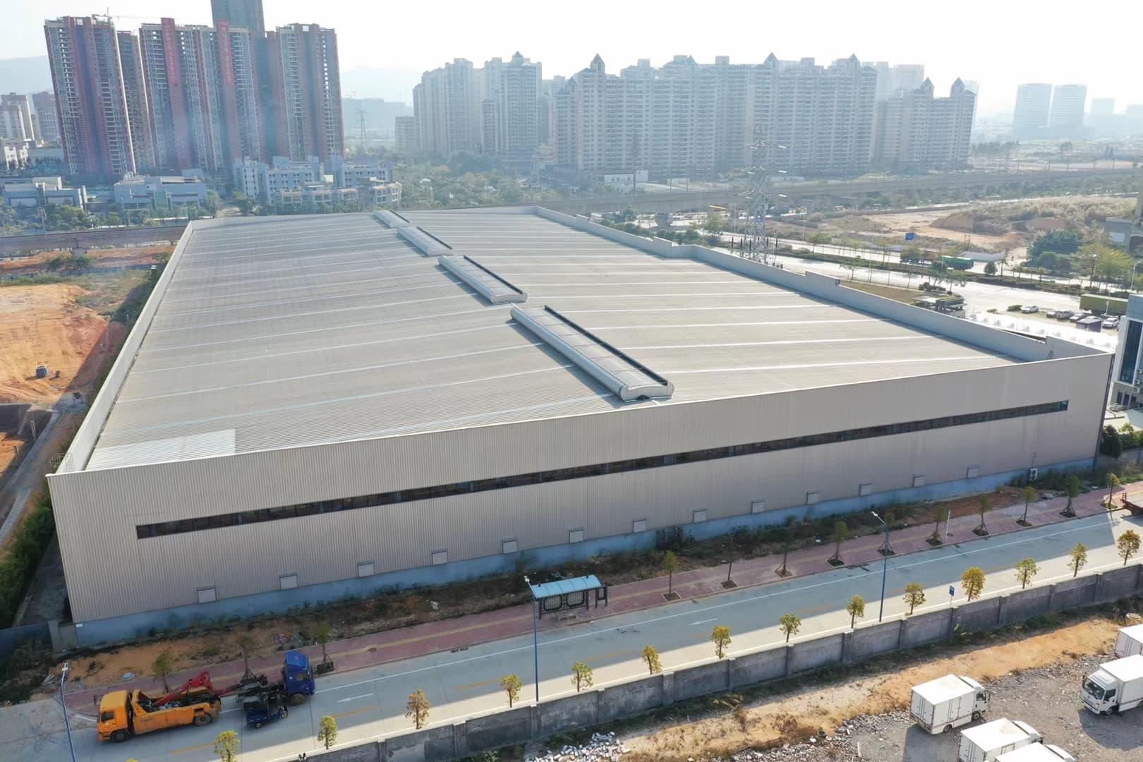 钢结构工程案例:东莞糖酒集团仓库