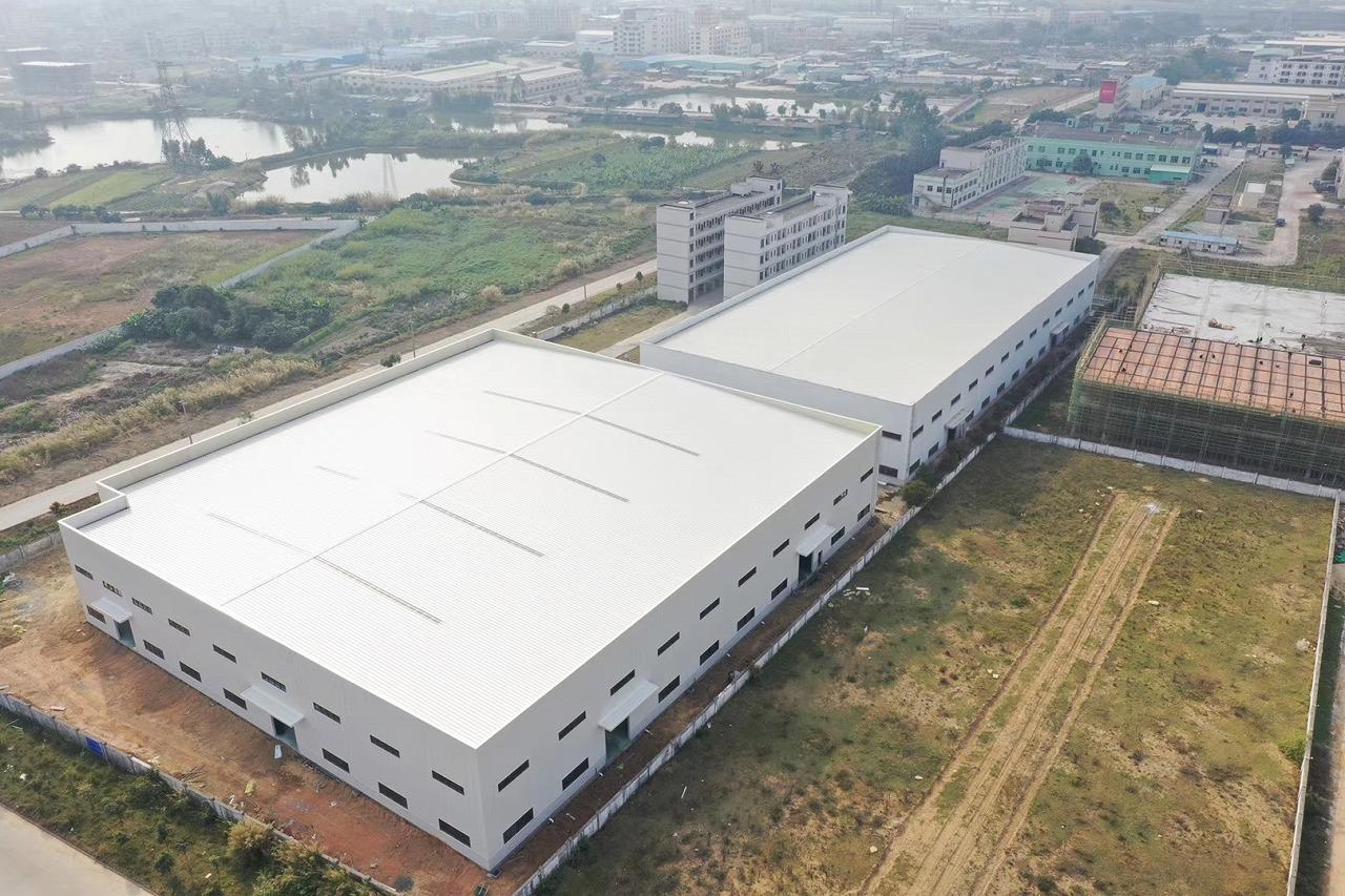 钢结构工程案例:惠州文业包装材料有限公司厂房